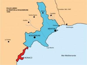 Villes libres de Menton et Roquebrune, 1848